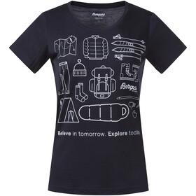 Bergans Graphic Uld-T-shirt Damer, blå